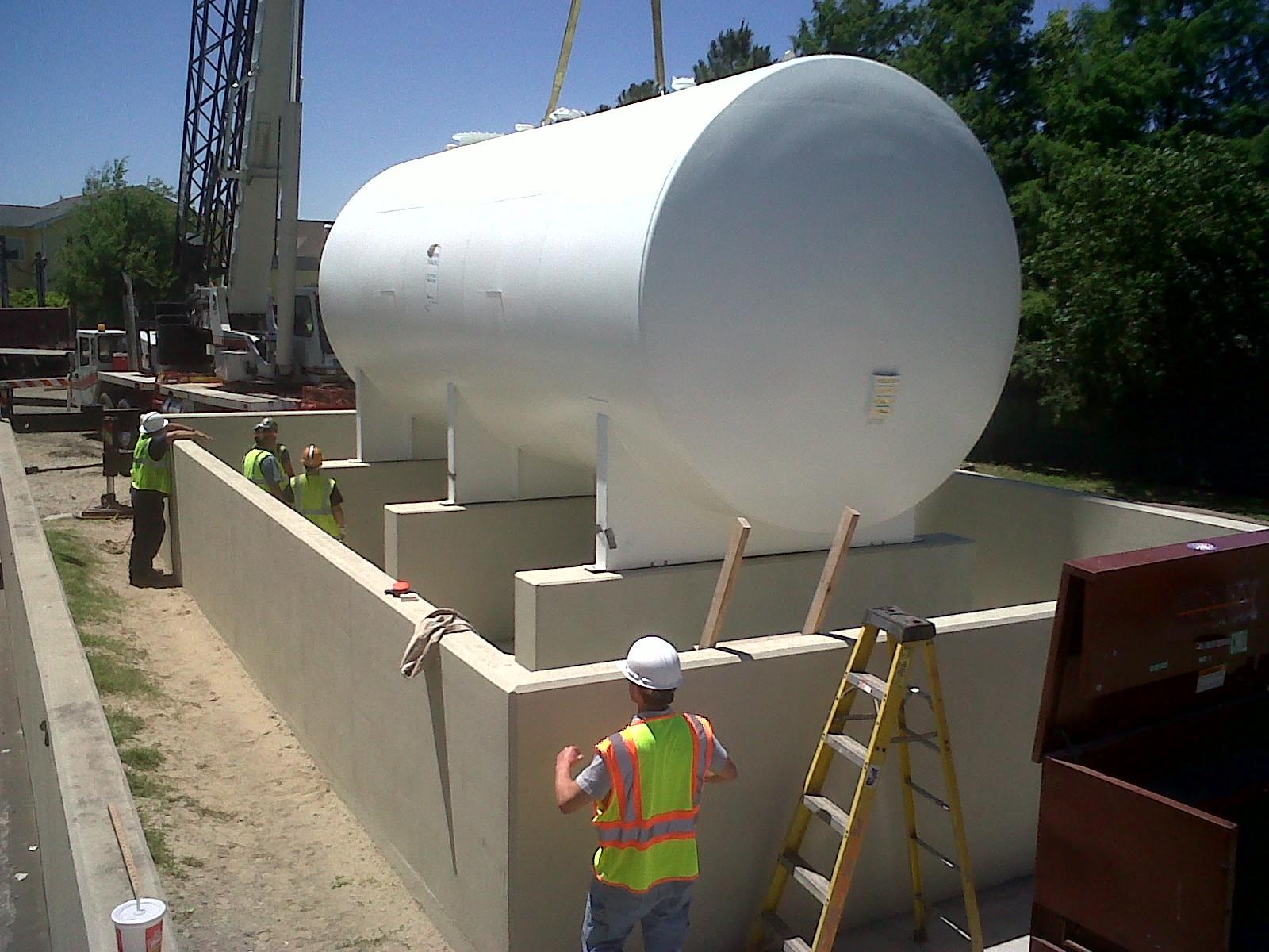 Construction Gas Tank : Dqsi heavy construction jefferson parish